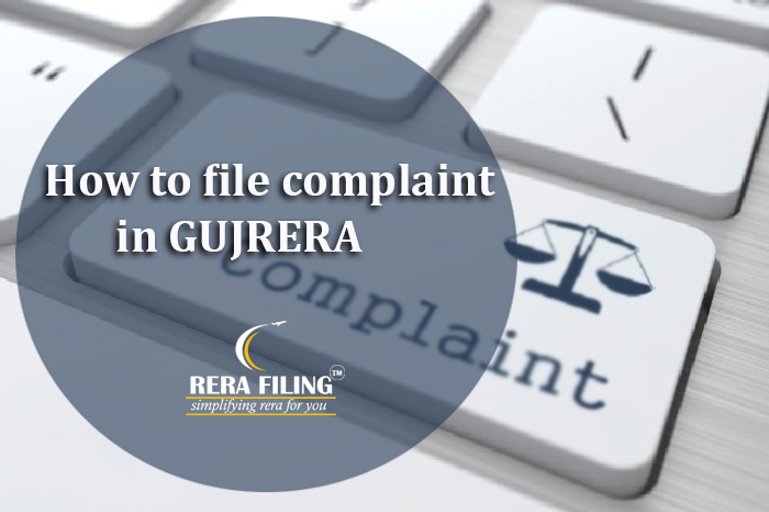 How to file complaint in GUJRERA