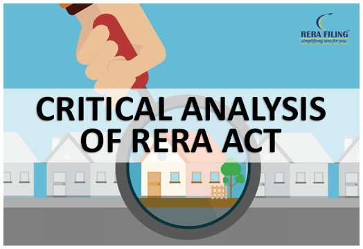 Critical Analysis of RERA Act, 2016