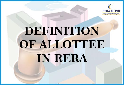 Definition of Allottee in RERA