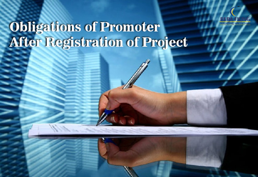 Obligations of promoter after registration of project