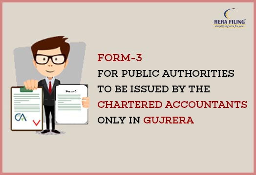 Form-3 for Public Authorities to be issued by the Chartered Accountants only in GUJRERA