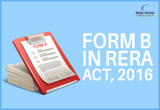 Form B in RERA Act, 2016