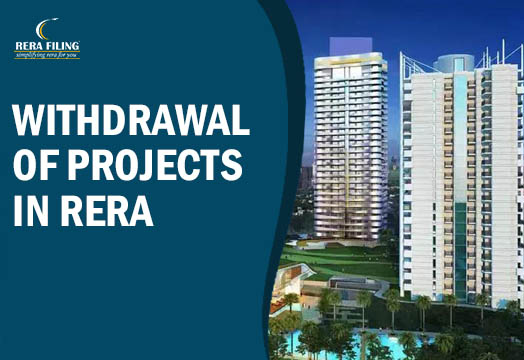 Withdrawal of projects in RERA