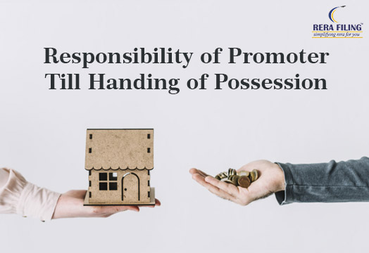 Responsibility of promoter till handing of possession