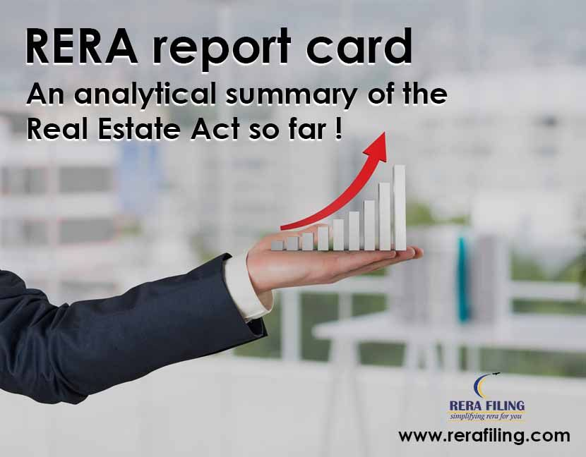 RERA report card : An analytical summary of the Real Estate Act so far !