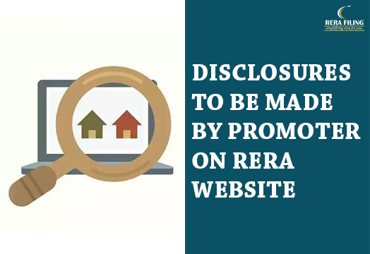 Disclosures to be made by promoter on RERA website