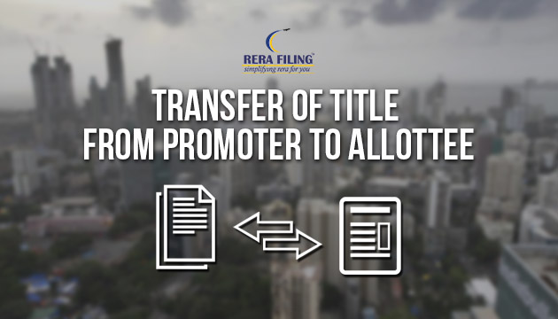 Transfer of title from promoter to allottee