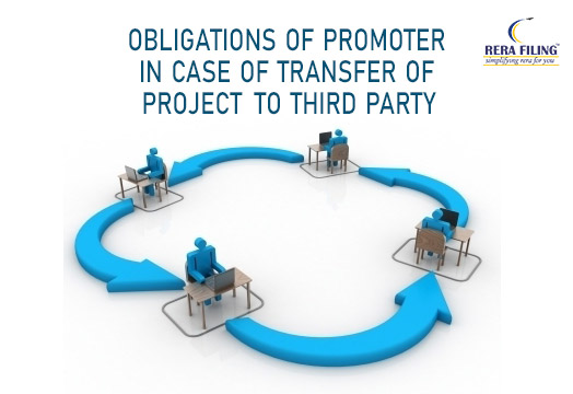 Obligations of promoter in case of transfer of project to third party