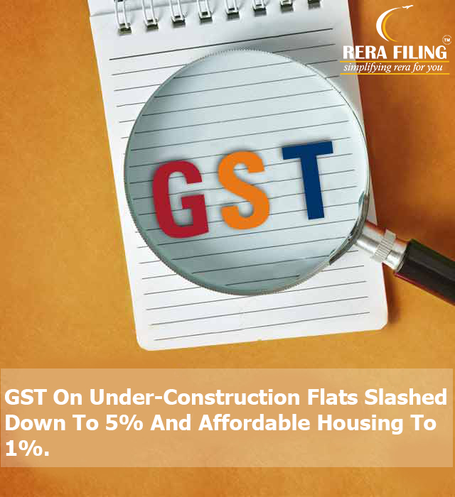 GST On Under-Construction Flats Slashed Down To 5% And Affordable Housing To 1%