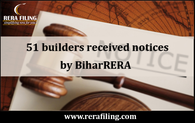 51 builders received notices by BiharRERA