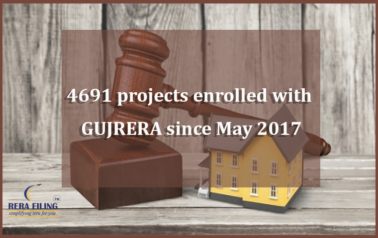 4691 projects enrolled with GUJRERA since May 2017