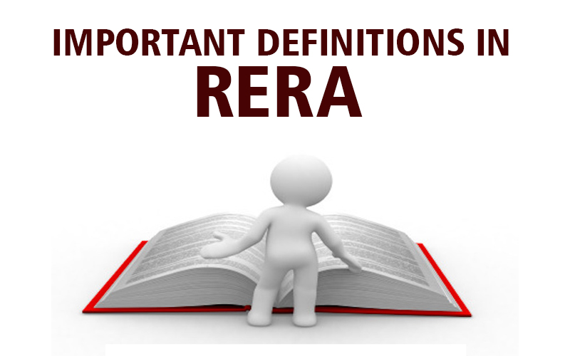 Important Definitions in RERA